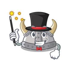 Magician viking helmet in a cartoon vector