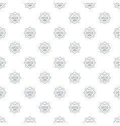 men hipster style pattern seamless vector image