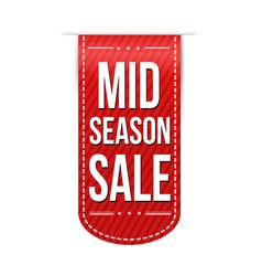 mid season sale banner design vector image
