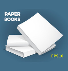 Mock-ups of paper books-01 vector