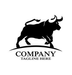 Modern angry bull logo vector