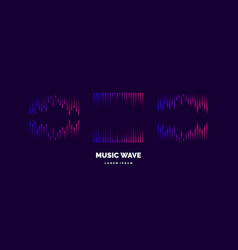 music wave in form of vector image