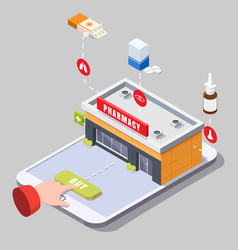 online pharmacy and drugstore concept vector image