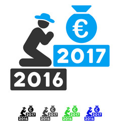 Pray for euro 2017 flat icon vector
