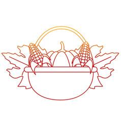 Pumpkin and corns design vector