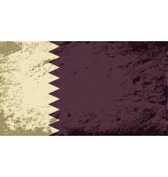 Qatar flag Grunge background vector