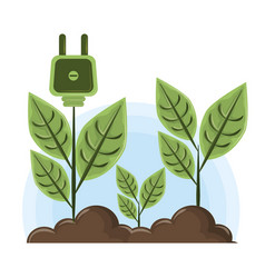 raised plant with socket plug vector image