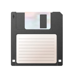 Realistic detailed floppy-disk retro object vector