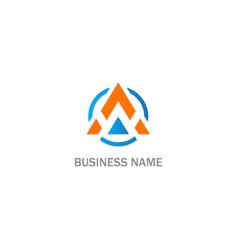 round triangle a company logo vector image