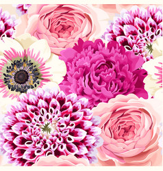 seamless wedding flowers vector image