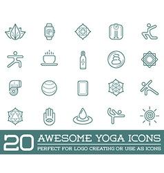 Set of yoga zen sport elements and fitness healthy vector