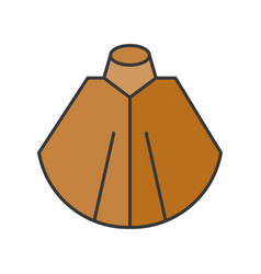 Shawl or poncho fashion for winter and fall vector