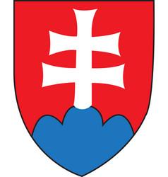 Slovakia coat arms vector