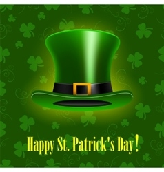 StPatrick Day background with hat vector