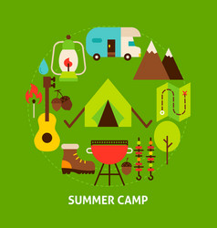summer camp postcard vector image