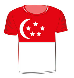 t-shirt flag singapore vector image