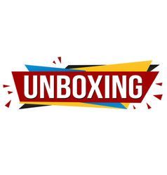 unboxing banner design vector image