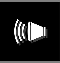 volume icon flat vector image