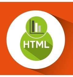 Web development graphics bar economy html vector