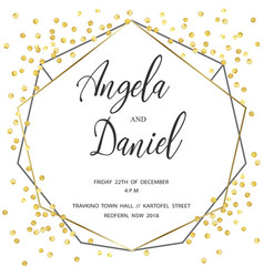 wedding gold dot 3 vector image
