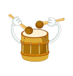 A playing drum vector image vector image