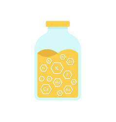 Glass jar with honey vector