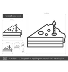 piece of cake line icon vector image