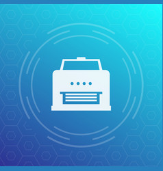 printer icon pictogram vector image vector image