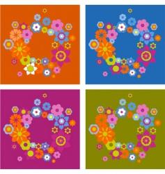 retro frame elements vector image vector image