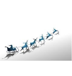 santa claus sleigh vector image vector image