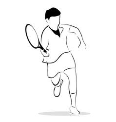 sketch of tennis player vector image