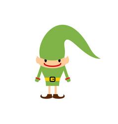 christmas elf isolated santa claus helper vector image