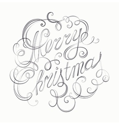Merry Christmas inscription retro calligraphy vector image