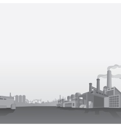 Oil and Gas Refinery Petrochemical Factory vector image