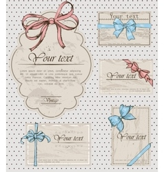 Set of vintage gift bows vector image vector image