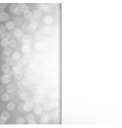 silver glitter poster vector image