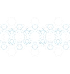 Abstract blue molecule structure Medical vector image