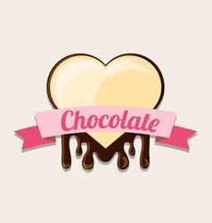 Chocolate candies design vector