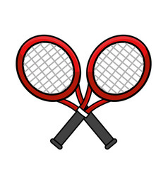 color rackets to play tennis icon vector image vector image