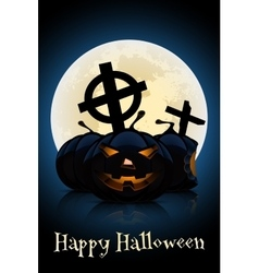 Happy Halloween Greeting Card Template vector image