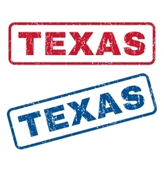 Texas Rubber Stamps vector image