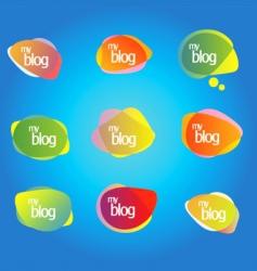 blog elements vector image