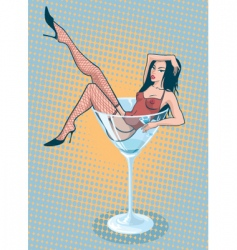 martini girl vector image