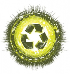 recycling background vector image vector image