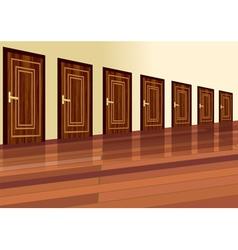 row of doors vector image vector image