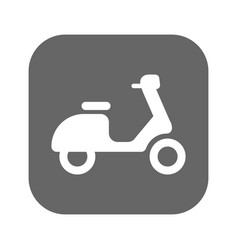 scooter icon isolated on background modern flat vector image vector image
