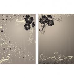 stylish floral vintage background vector image