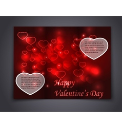 Valentine Brochure flyer card and book vector image vector image