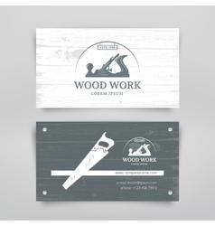Woodwork vintage card vector image
