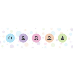 5 telemarketing icons vector